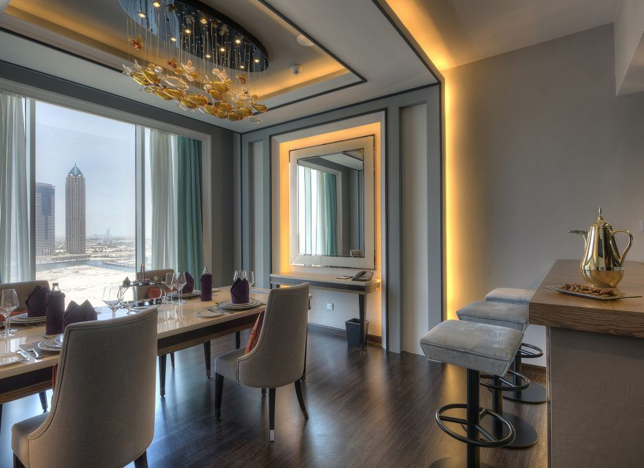 Steigenberger Hotel Business Bay, Dubai - CEO Suite, Dining Room